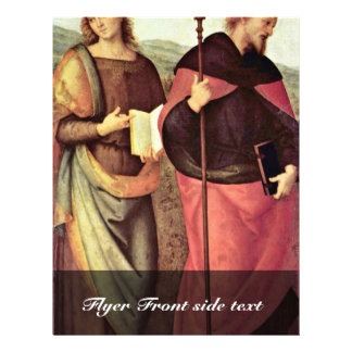 John The Baptist And St. Augustine By Perugino 21.5 Cm X 28 Cm Flyer