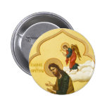John the Baptist Russian icon 6 Cm Round Badge