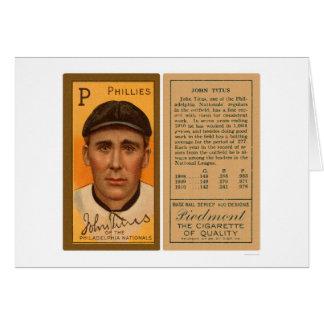 John Titus Phillies Baseball 1911 Card