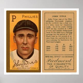 John Titus Phillies Baseball 1911 Poster