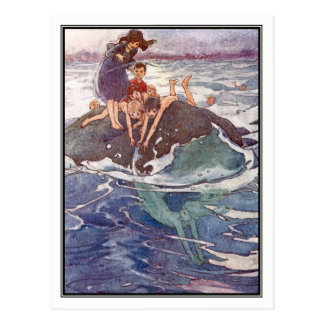 John Tries to Catch a Mermaid by Alice B. Woodward Postcard