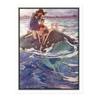 John Tries to Catch a Mermaid by Alice B. Woodward Postcard