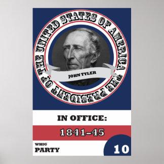 John Tyler Presidential History Poster