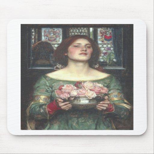 John W Waterhouse - Gather Ye Rosebuds (1908) Mousepads