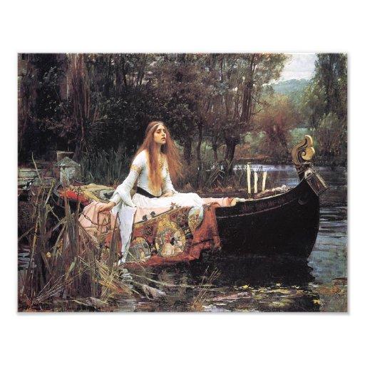 "John Waterhouse 1888 ""The Lady of Shallot"" Photograph"
