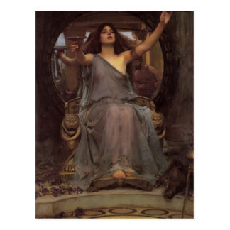 John Waterhouse- Circe Offering the Cup to Ulysses Postcard