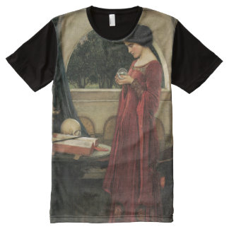John Waterhouse Crystal Ball Fine Art All-Over Print T-Shirt