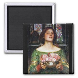 John Waterhouse - Gather Ye Rosebuds Fridge Magnet
