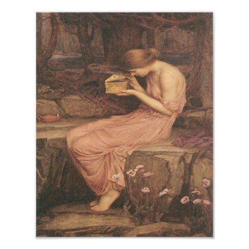 "John Waterhouse ""Psyche Opening the Golden Box"" Photograph"