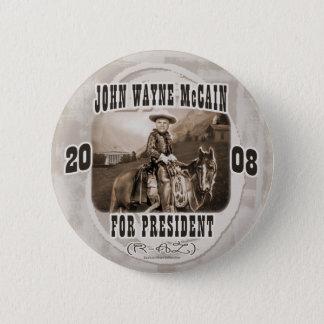 John Wayne McCain '08 6 Cm Round Badge