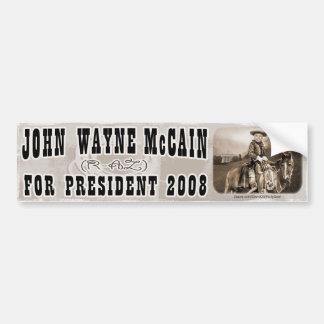John Wayne McCain 08 Bumper Sticker