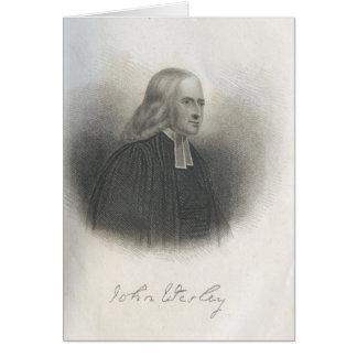 John Wesley Methodist founder Greeting Card