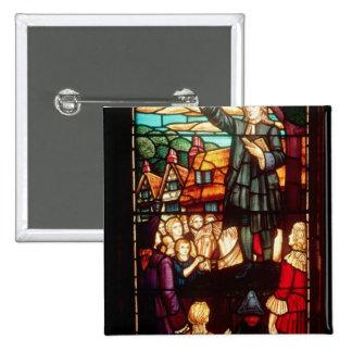 John Wesley  Preaching the Gospels in England 15 Cm Square Badge