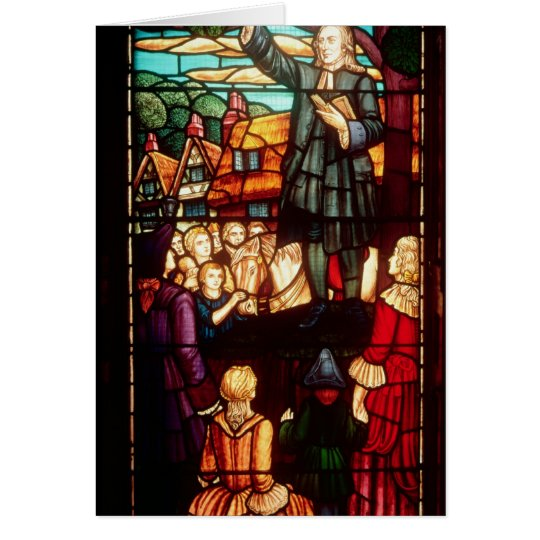 John Wesley  Preaching the Gospels in England Card