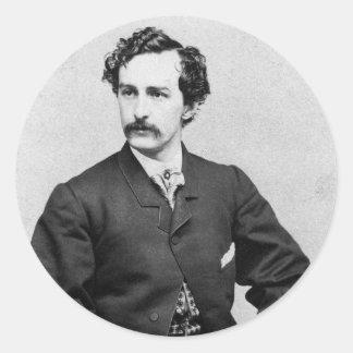 John Wilkes Booth ~ Assassin of President Lincoln Round Sticker