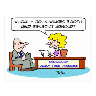 john wilkes booth benedict arnold genealogy post cards