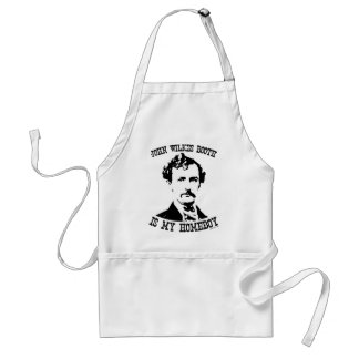 john wilkes booth is my homeboy adult apron