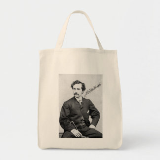 JOHN WILKES BOOTH TOTE/GROCERY BAG