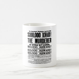 John Wilkes Booth Wanted Poster Coffee Mugs
