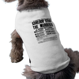 John Wilkes Booth Wanted Poster Doggie Tshirt