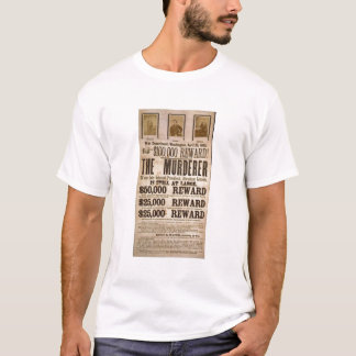 John Wilkes Booth wanted poster T-Shirt