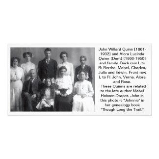 John Willard Quinn family photo Customized Photo Card