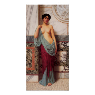 John William Godward - At the Thermae Posters