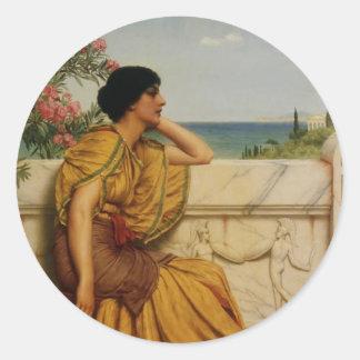 John William Godward- Leisure Hours Stickers