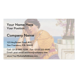 John William Godward- Rich Gifts Wax to Poor Business Card Templates