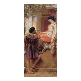 John William Godward- The Old Old Story Rack Card