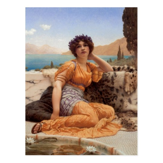 John William Godward With Violets Wreathed and Rob