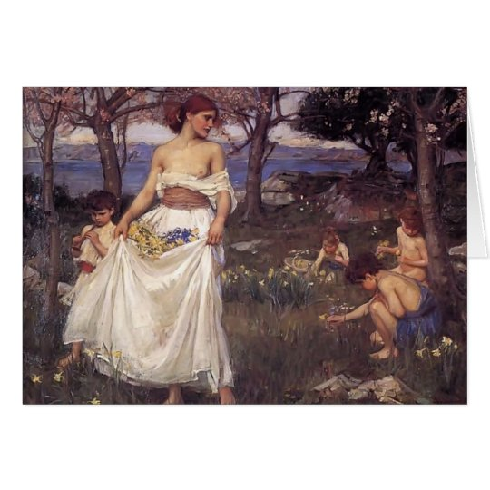 John William Waterhouse- A Song of Springtime Card