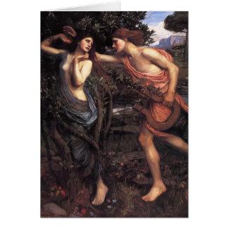 John William Waterhouse- Apollo and Daphne Greeting Card
