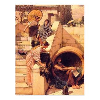 John William Waterhouse- Diogenes Postcards