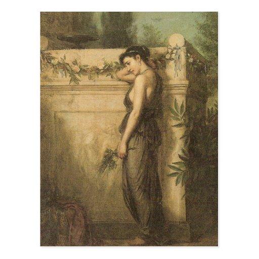 John William Waterhouse - Gone But Not Forgotten Post Card