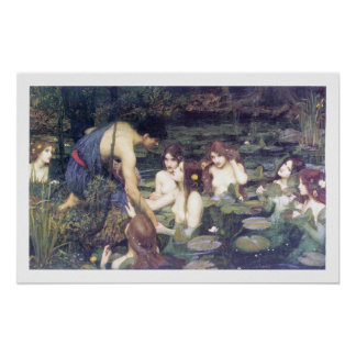 John William Waterhouse - Hylas and the Nymphs Poster