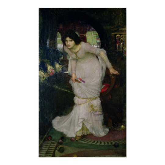 John William Waterhouse - Lady of Shallot Poster