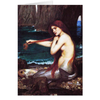 John William Waterhouse Mermaid Card