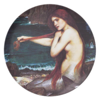 John William Waterhouse Mermaid Plate