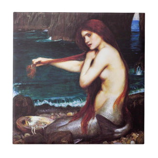 John William Waterhouse Mermaid Tile