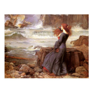 John William Waterhouse- Miranda Postcard