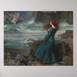 John William Waterhouse - Miranda - The Tempest Poster