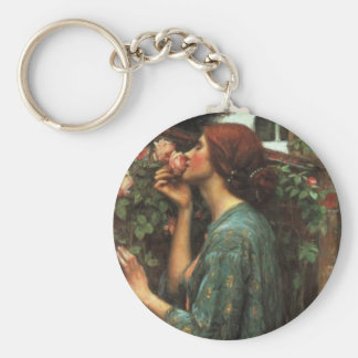 John William Waterhouse, My Sweet Rose (1903) Key Ring
