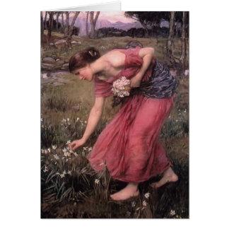 John William Waterhouse- Narcissus Greeting Card