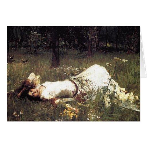 John William Waterhouse - Ophelia 1889 Card