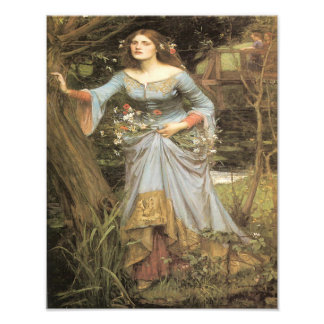 "John William Waterhouse ""Ophelia"" Print Photograph"