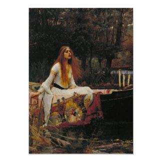 John William Waterhouse - The Lady of Shalott 13 Cm X 18 Cm Invitation Card