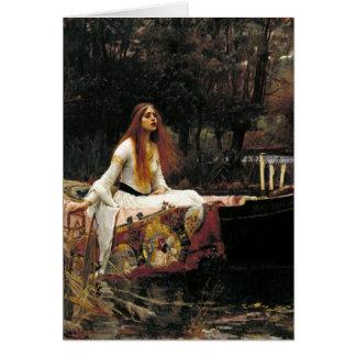 John William Waterhouse The Lady Of Shalott Note Card