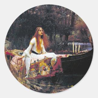 John William Waterhouse The Lady Of Shalott Round Sticker