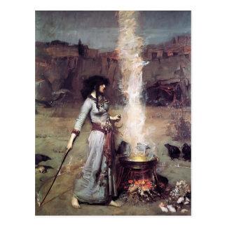 John William Waterhouse- The Magic Circle Postcard